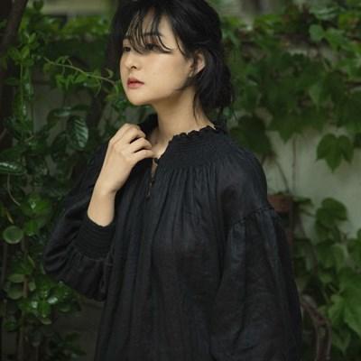이자벨 린넨 드레스 : Isabel linen dress -black