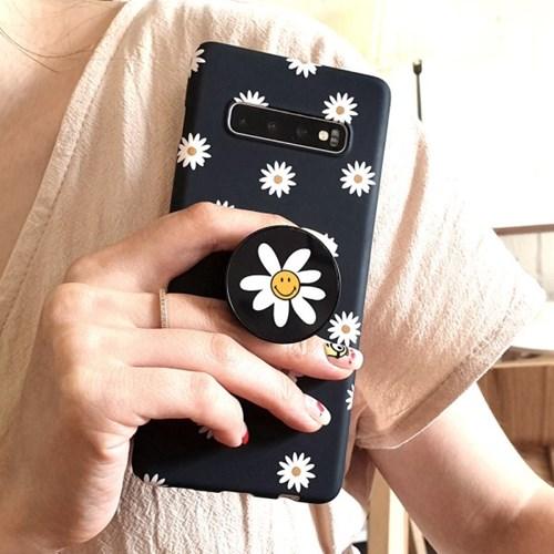 데이지 스마일 그립톡 슬림 휴대폰케이스 갤럭시/아이폰