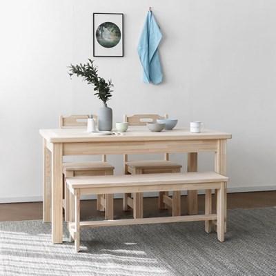 [편백] A형 식탁/테이블 서랍형 세트 1200_(1608472)