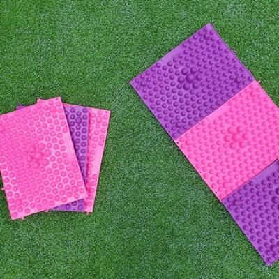해브어핑크데이 컨버터블 컬러칩 건강 지압매트 퍼플/핑크 2종택1