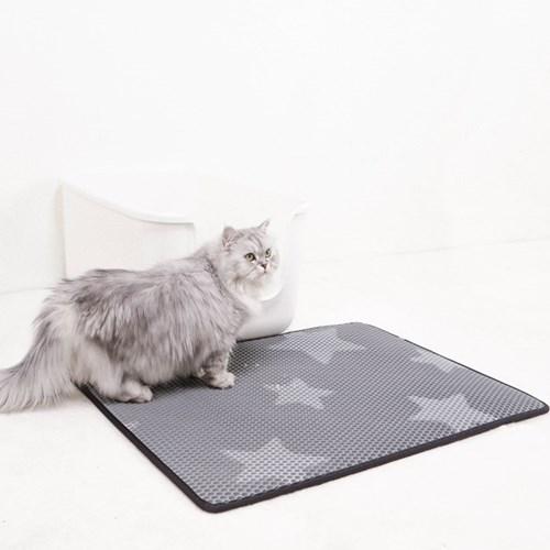 스타캣 고양이 모래매트_그레이별패턴(대형60cmX70cm)