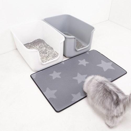 스타캣 고양이 모래매트_그레이별패턴(특대형60cmX100cm)