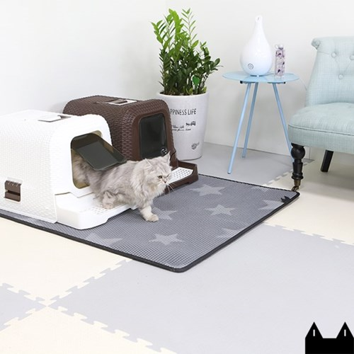 스타캣 고양이 모래매트_그레이별패턴(점보120cmX100cm)