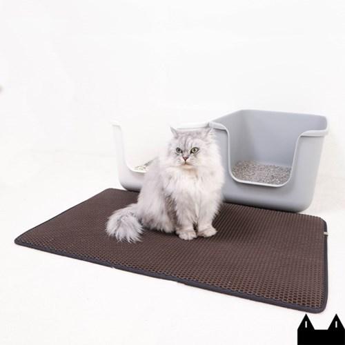 스타캣 고양이 모래매트_다크브라운(특대형60cmX100cm)