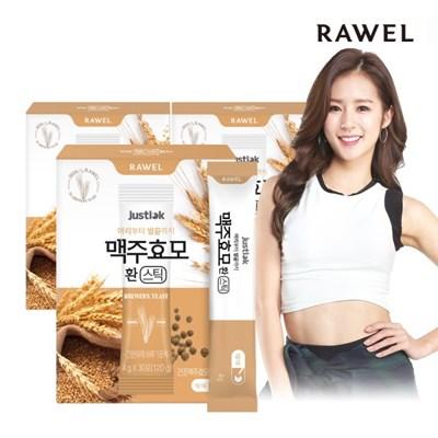 로엘 저스틱 맥주효모 환 스틱 (4g x 30포) 3박스