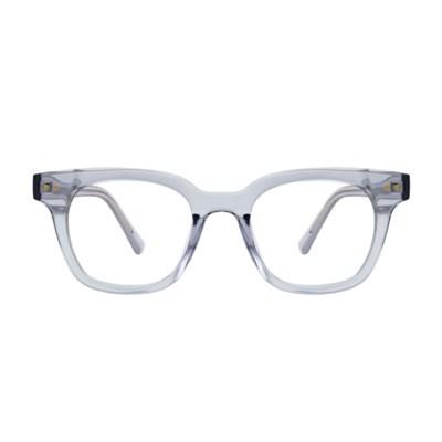 Der GRAY CRYSTAL 스퀘어 투명 뿔테 안경