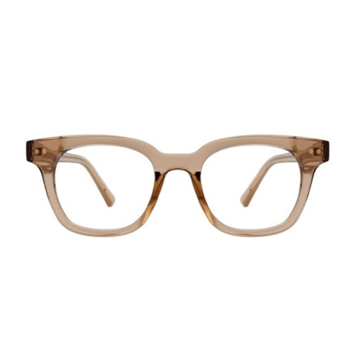 Der BROWN CRYSTAL 스퀘어 투명 뿔테 안경