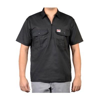 벤데이비스 포켓 플랩 반팔 셔츠 블랙 114_(1065339)