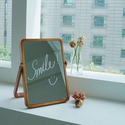 우드 원목 탁상 나무 거울 [갓샵 사각 화장대 접이식 테이블 거울]