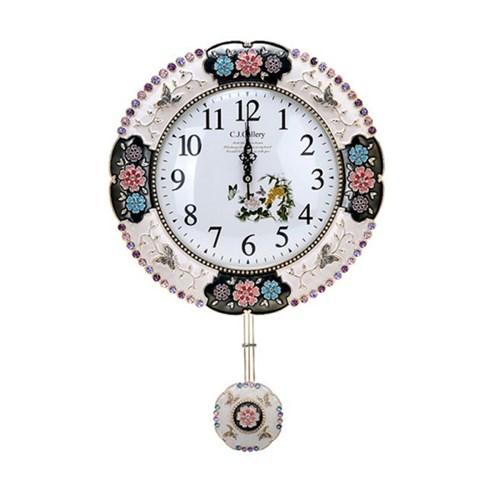 엔틱 인테리어 양면시계 소(골드' 실버)