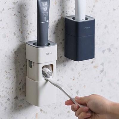 팝업 치약 디스펜서 자동치약짜개 욕실용품 간편부착 위생관리