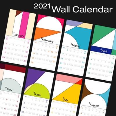 2021 Wall Calendar (2021년 벽걸이 달력)