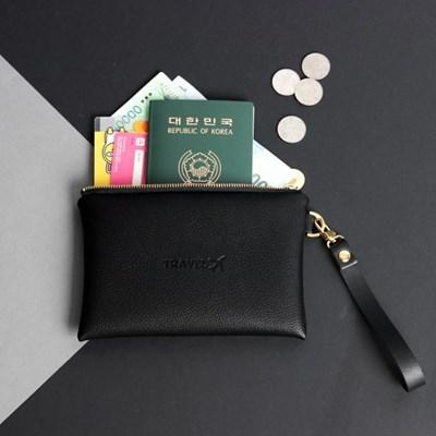 프롬미 이니셜 여권 트래블 스트랩파우치 ver6_블랙(Black)