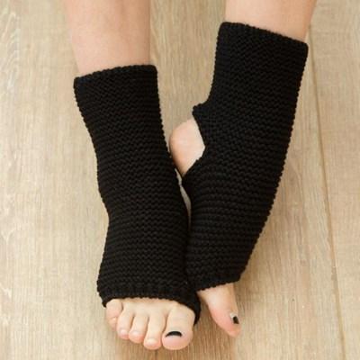 리나 니트 숏 레그워머(블랙) (23cm)