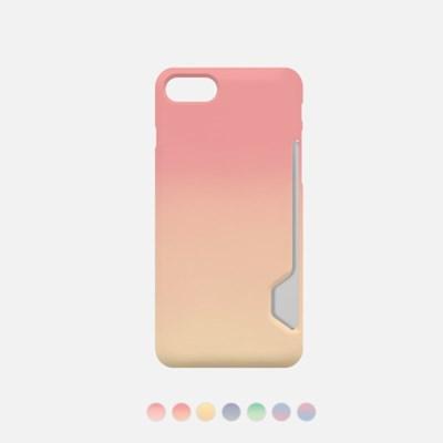 선셋그라데이션 디자인 카드수납케이스 핸드폰케이스