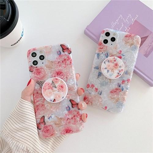 핑크 로즈 자개 스마트톡 아이폰케이스