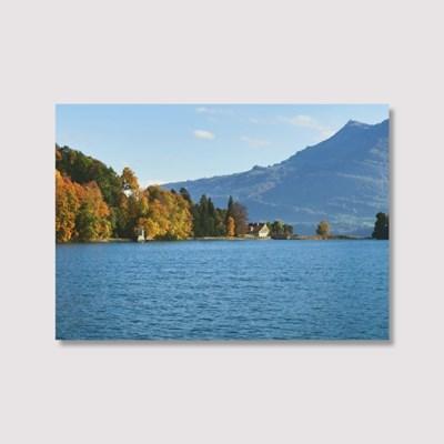 The blue lake Lucerne - Jitten 인테리어 포스터