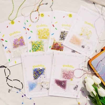비즈목걸이만들기 세트 X2 DIY 키트 6type Dahlia 진주비즈 스마일