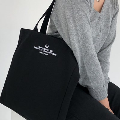 square canvas bag ( black )