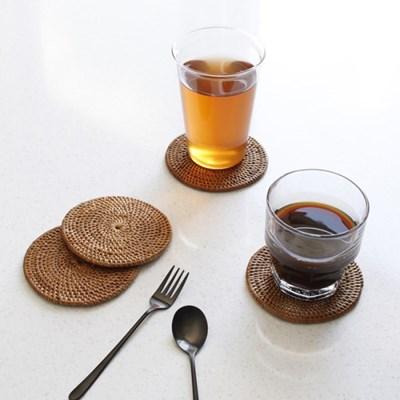 라탄 원형 컵받침 1p_(3042972)