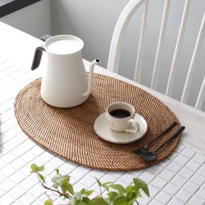 라탄 테이블 매트 - 타원매트 1p_(3042963)