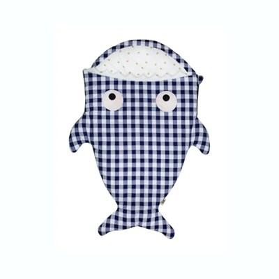 베이비바이츠 유아 아기 슬리핑백 보낭 겉싸개 BLUE VICHY