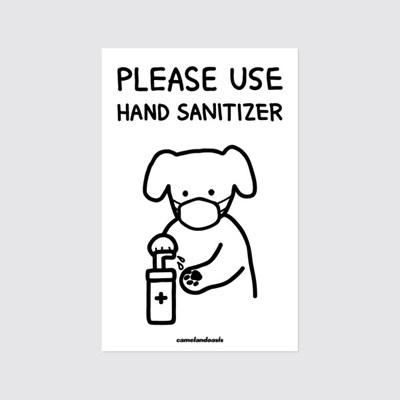 [카멜앤오아시스] New Normal Life : Hand Sanitizer 스티커