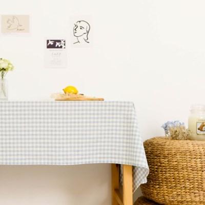 멜란체크 블루 면식탁보 테이블보