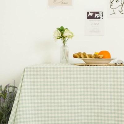 멜란체크 민트 면식탁보 테이블보
