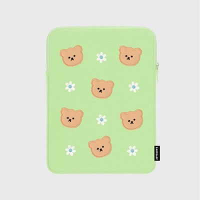 Dot flower bear-mint(아이패드 파우치)_(1683727)
