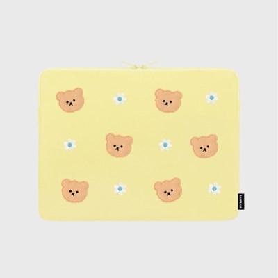 Dot flower bear-yellow-13inch notebook pouch(13인치_(1683725)