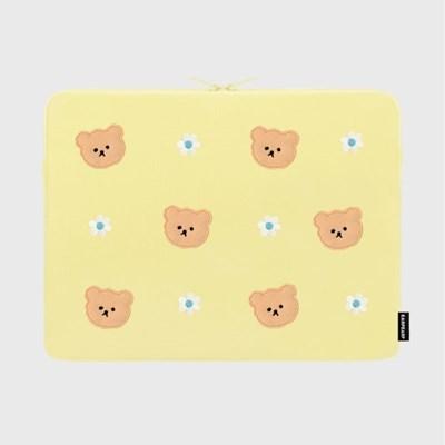 Dot flower bear-yellow-15inch notebook pouch(15인치_(1683722)
