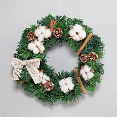 크리스마스 목화 리스(30cm)