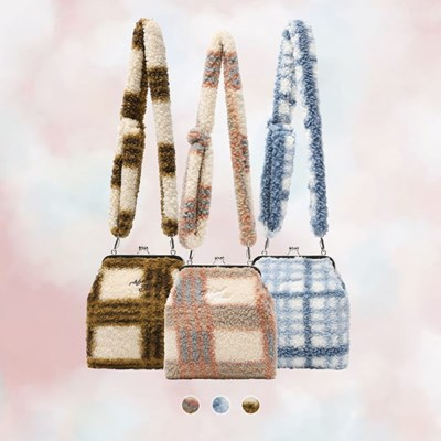 FLUFFY CHECK FRAME BAG