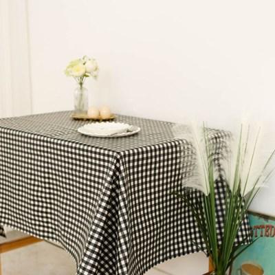 멜란체크 블랙 방수식탁보 테이블보