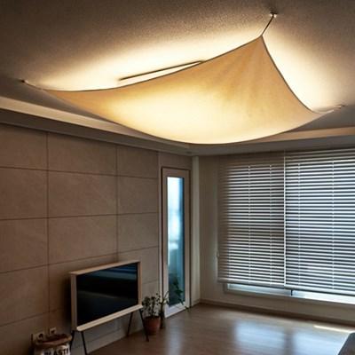 블랭크 광목 천정등 가리개 / 천정 조명 커버 (라지_RM 288001)