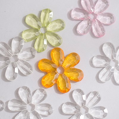아크릴 꽃 비즈(6cm_5개)