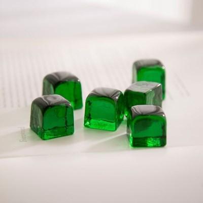 유리 장식 6P-큐브