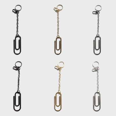 BIG PAPER CLIP KEY-RING L