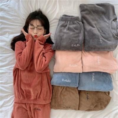 밍크 극세사 수면 잠옷 파자마 세트