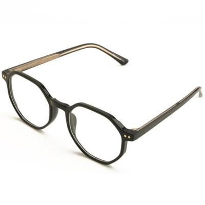 남자 여자 라운드 각진 심플 얇은 뿔테 안경테