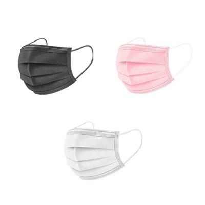 피넛 3중필터 덴탈형마스크 성인용/아동용 50매 블랙,화이트,핑크