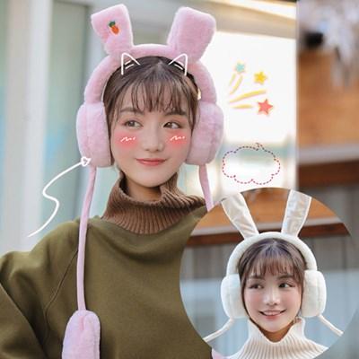 큐리 움직이는 토끼 귀마개 귀도리_(2492448)
