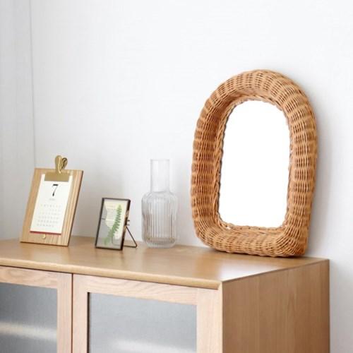 차이 라탄 거울 2type