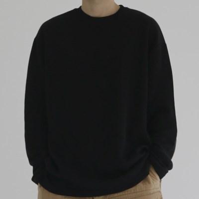 데일리 소프트 골지 긴팔 니트 남자 라운드넥 티셔츠