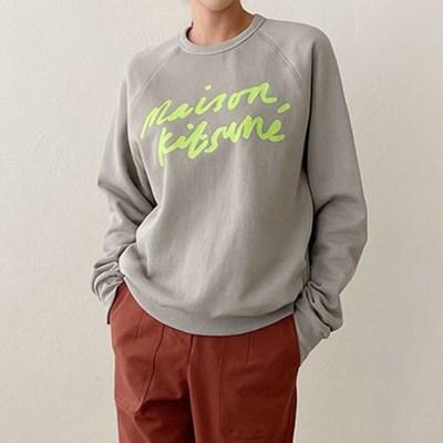 여자 가을 겨울 캐주얼 라운드 레터링 맨투맨 티셔츠