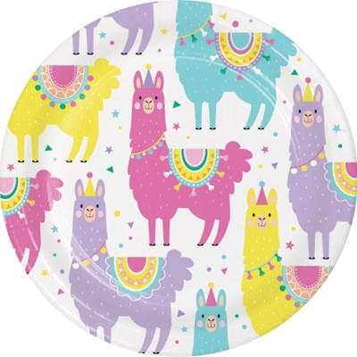 라마 종이접시 7인치 CC Llama Party paper plates