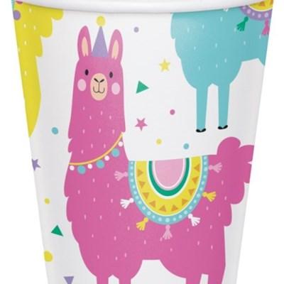 라마 종이컵 9oz CC Llama Party paper cups