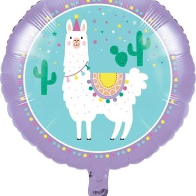 라마 호일 장식용 풍선 45cm CC Llama Party Balloon