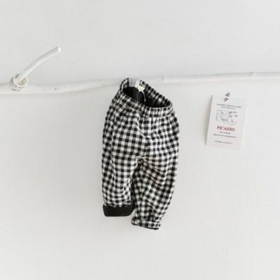 돌핀웨일 블랙체크벨벳기모팬츠(60~110cm)